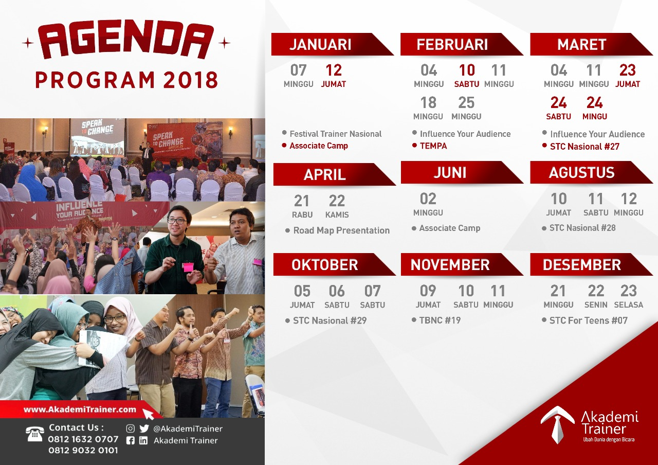 Program Agenda 2018 - CORPORATE TRAINING INDONESIA