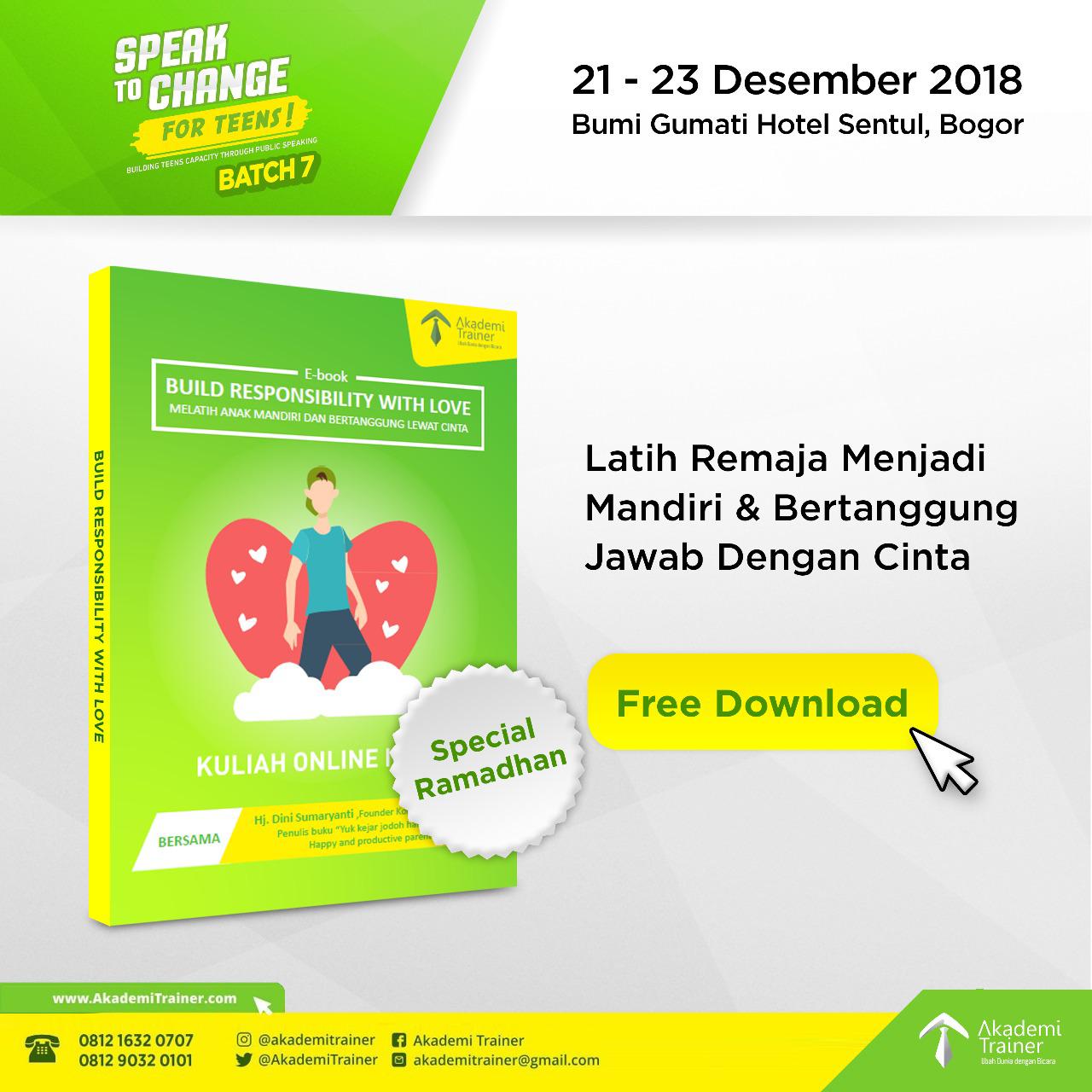 Ebook Gratis Latih Remaja Menjadi Mandiri & Bertanggung Jawab Dengan Cinta - Corporate Training Indonesia