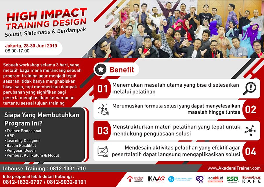 High Impact Training Design 2019