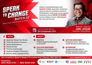fliyer Speak To Change Batch 32